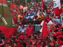 Trujillo recibe con una multitudinaria concentración al Candidato de la Patria