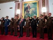 Presidente Hugo Chávez encabeza Desfile Bicentenario desde Miraflores