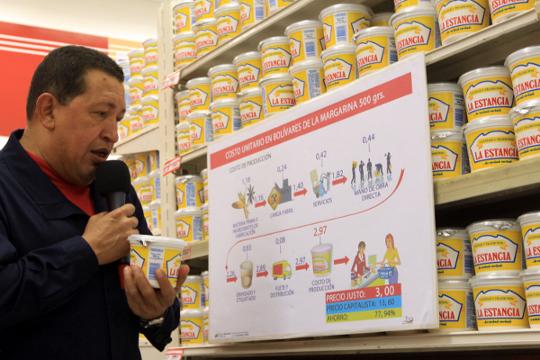 El Presidente Hugo Chávez inauguró mercado socialista en La Vega
