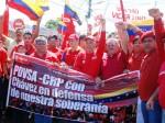 Líderes del PSUV y trabajadores del Centro Refinador Paraguaná marcharon en defensa de nuestra soberanía antes las amenazas imperialistas.