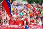 Líderes del PSUV marchan por la paz y la unidad de los pueblos de Colombia y Venezuela en la ciudad de Coro, estado Falcón.