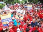 El pueblo de Falcón desbordó las calles de Coro en apoyo al presidente Hugo Chávez.