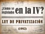 Ley de Privatización