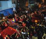Recorrido de Chávez por el 23 de Enero