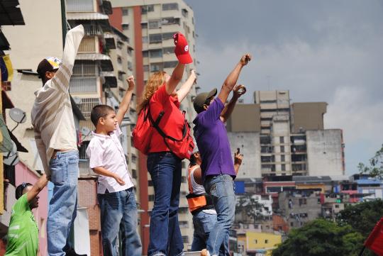 La pasión roja se desbordó en la avenida Sucre de Caracas