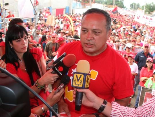 Diosdado Cabello, Candidato Lista por el PSUV en el estado Monagas