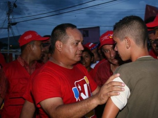 Diosdado Cabello, candidato del PSUV en Monagas