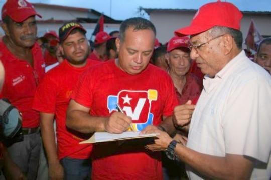 Diosdado Cabellos, candidato lista del PSUV en Monagas