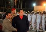El Jefe de Estado venezolano, Hugo Chávez, junto al  presidente iraní Mahmud Ahmadineyad.