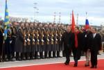 Llegada del presidente Hugo Chávez a Moscú. Foto Prensa Presidencial.