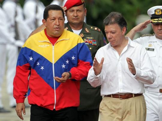 Hugo Chávez y Juan Manuel Santos
