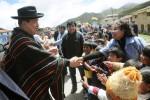 Hugo Chávez en Cochabamba