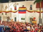 El Pueblo celebra el cumpleaños 57 del Comandante Hugo Chávez en el balcón del Pueblo