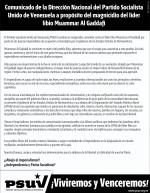 Comunicado Dirección Nacional del PSUV
