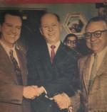 Rómulo Betancourt, Raúl Leoni y Gonzalo Barrios (AD), Jóvito Villalba Firmantes del pacto de Punto Fijo