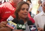Lizeta Hernández, candidata por el PSUV a la gobernación de Delta Amacuro.