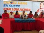 Luis Acuña en rueda de prensa / Foto: Prensa PSUV.