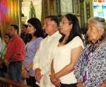 Durante el encuentro de con la Virgen de Chiquinquirá en la Basílica, Arias Cárdenas expresó el amor por el pueblo del Zulia / Foto: CCC Zulia.