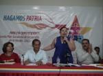 Yadira Córdova junto al Candidato a la Gobernación del estado Sucre, Luis Acuña, se incorporan a la tarea de las mesas de trabajo con el Poder Popular.
