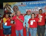 El candidato de Chávez les exhortó a trabajar para conseguir una victoria aplastante