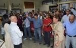 Los hermanos y hermanas hicieron propicia la oportunidad para orar por la salud del presidente Chávez / Foto: Prensa CCC Guárico.