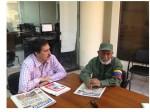 Visita al diario boliviano El Cambio