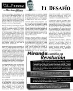Columna Hoy tenemos Patria. 22SEP
