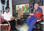 A su paso por Cuba (Nicolás Maduro) aprovechó para hacer un contacto conmigo y saludarme personalmente como había prometido, el 13 de agosto.