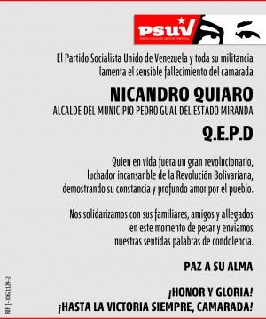 Obituario Nicandro Quiaro