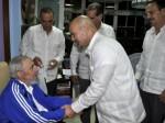 Fidel recibe a Los Cinco, 28 de febrero de 2015. Fotos: Estudios Revolución