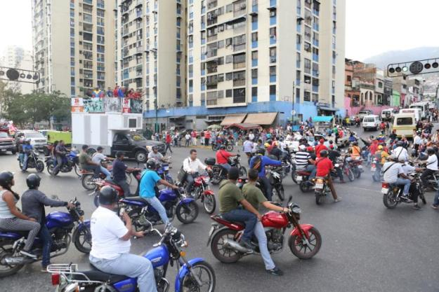 En Caracas la militancia chavista se desplegó con alegría