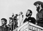 Fidel con Cienfuegos y el Che