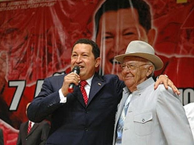Eneas Perdomo y Hugo Chavez