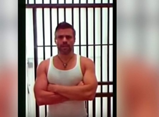 Leopoldo López en la cárcel. Foto: VTV/PSUV